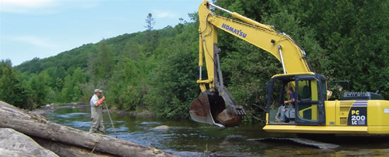 Wolf River West Branch Restoration Activity